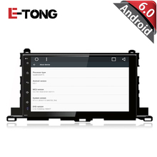 10.1 inch Android 6.0 Car DVD player For Tyotota Highlander GPS Navigation 2015 Autoradio Support Camera wifi OBDII Full Touch