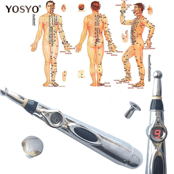 2018 Newst Electronic Acupuncture Pen Electric Meridians Laser Therapy Heal Massage Pen Meridian Energy Pen Relief Pain Tools