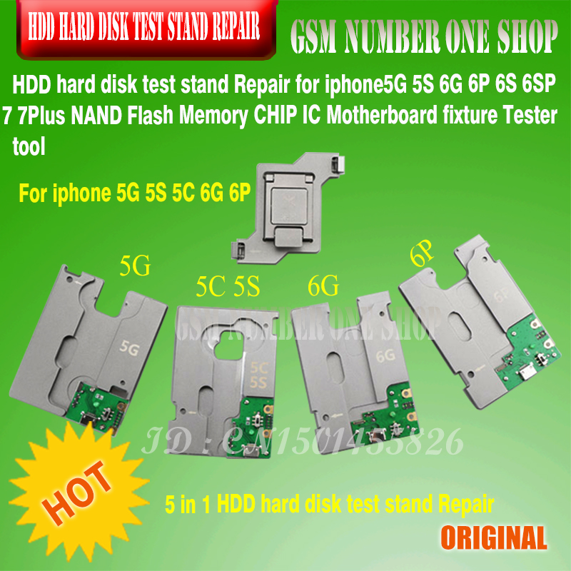 HDD hard disk test stand Repair For iphone 5G 5S 5C 6G 6P 6S 6SP 7G 7plus NAND Flash Memory CHIP IC Motherboard fixture Tester