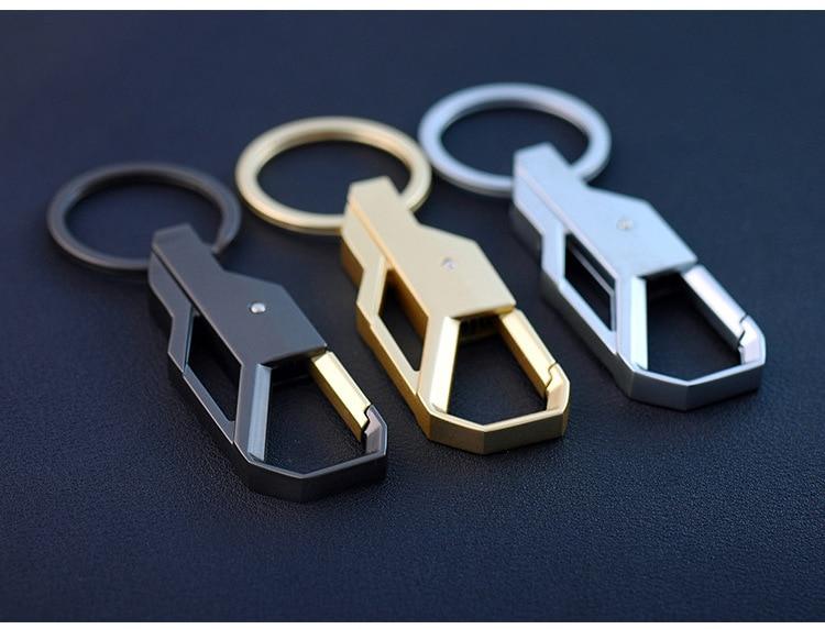 Personalised Luxury Manual Metal Inlay Keychain Car Key Chain Key ...
