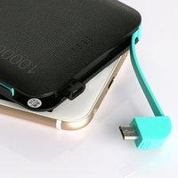 BÁN Ngân Hàng Điện Hạt Da niversal 10000 mAh Xách Tay PowerBank cho Thiết Bị Kỹ Thuật Số USB Ngân Hàng Điện Cáp Trong Một nhanh chóng phí