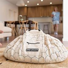 Детский игровой коврик с сотовым узором, напольный коврик, сумка для хранения игрушек