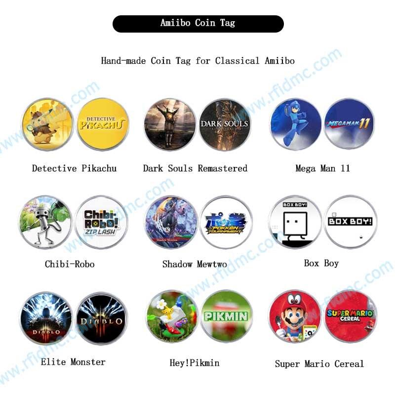 Amiibo Coin Tag Loot Goblin Detective Pikachu Super Mario Cereal Mega Man Box Boy