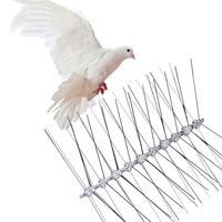 Repelente de pássaros de aço inoxidável  espinhos anti pigeão  ferramenta de deter  controle de pragas  pigeões  coruja  aves pequenas  repelente de cerca