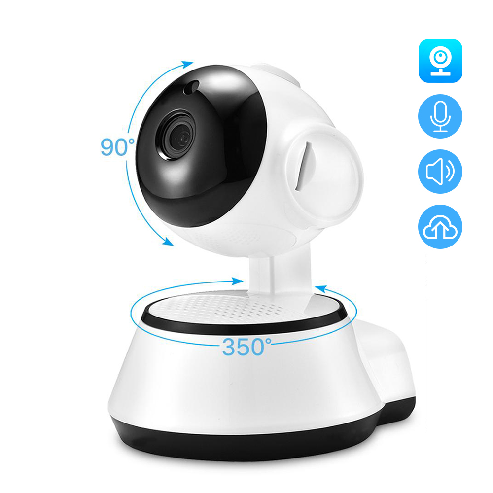 Hamrolte Baby Monitor 720P Mini Wifi IP Camera Nightvision Two Way Audio Motion Detection Remote Access Pan/Tilt Camera V380