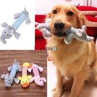 3 x Nuovo Cucciolo Chew Squeaker Squeaky Peluche Suono Pig Elefante Anatra Per Il Cane Giocattoli Sonori