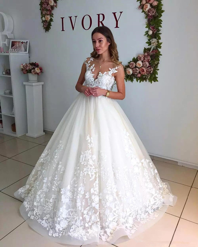 Milla Nova Lace Sheer Neck A-Line Wedding Dresses Cap Sleeves Maternity Pregnant Backless Beach Plus Size Wedding Bridal Gowns