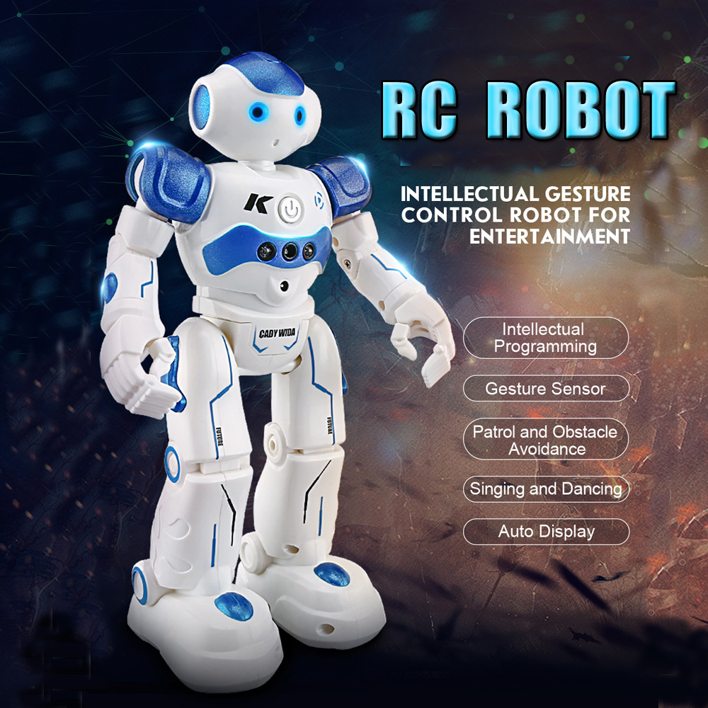 Intelligent RC Robot Gesture Sensor Intellectual Programming Singing Dancing Action Figures Puzzle Toy Children Birthday Gift hot sale removable armor deformable big hero 6 2015 new deformable robot baymax children s action toy figures holiday gift