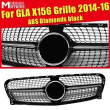 For Mercedes X156 GLA Sport grille grill Diamonds ABS Black Without Sign Class GLA180 GLA200 GLA250 GLA45 Look grills 14-16