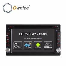 Ownice C500 Universal 2 din Android 6.0 Octa 8 Core Coches reproductor de DVD GPS Wifi BT Radio BT 2 GB RAM 32 GB ROM 4G SIM de la Red LTE
