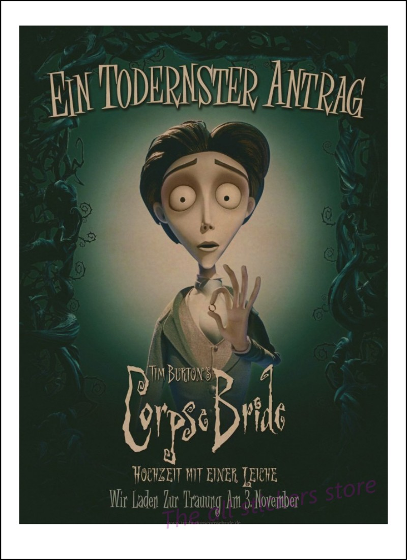 Corpse Bride Hochzeit Mit Einer Leiche Us 1 52 5 Off Tim Burton Movie Posters The Corpse Bride Vintage Retro Matte Kraft Paper Antique Poster Wall Sticker Home Decora 8007 In Wall