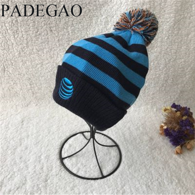 Blue striped floral knit cap hair ball over the child's hat for lovely boy john boyne the boy in the striped pyjamas