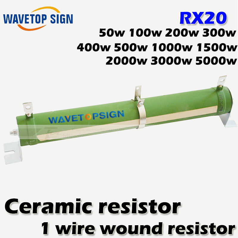 High-power tube type wire wound resistors RX20 /Ceramic resistor 50W 100W 150W 200W 300W 400W 500W 1000W 1 wirewound resistor high quality customized 150 ohm 500w watt power aluminum metal shell case gold resistor