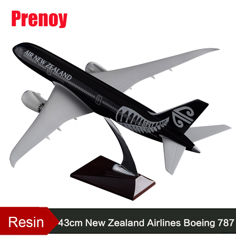 43cm Resin Boeing 787 New Zealand Airline Model Air New Zealand Airplane Aircraft Model B787 Airways Airbus Aviation Stand Craft image