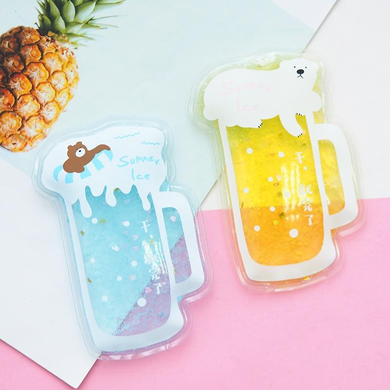 100% QualitäT Pacgoth Kawaii Cartoon Bär Bier Mini Tragbare Pvc Eis Pack Kühler Taschen Für Sommer Kühl Zufällig Gel Komprimieren Taschen, 1 Stück