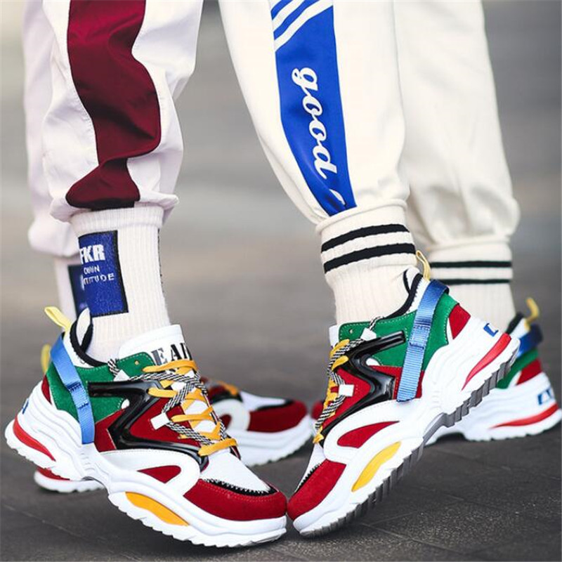 New fashion patchwork sneakers men 39 s shoes spring couple shoes ulzzang Harajuku breathable casual shoes sportsrunning 35 44 in Men 39 s Casual Shoes from Shoes