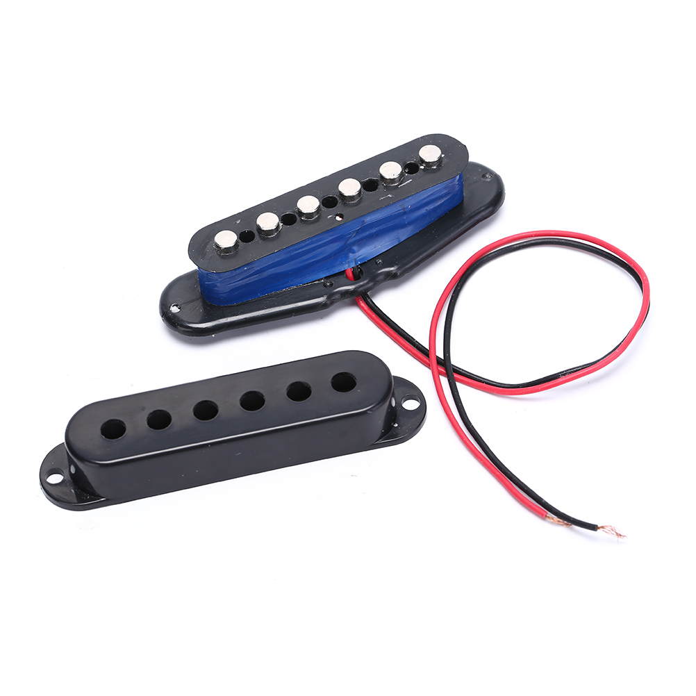 Купить с кэшбэком 1pc Black Single Coil Sound Pickup for 6 Strings Electric Guitar Harmonious