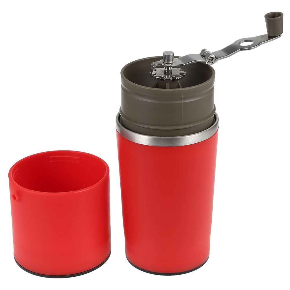 Multifunctional Portable Manual Coffee Grinder Machine Stainless Steel Vacuum Mug Funnel Filter Coffee Mill Machine fimei multifunctional manual coffee grinder vacuum cup portable stainless steel funnel filter ceramic grinding mechanism