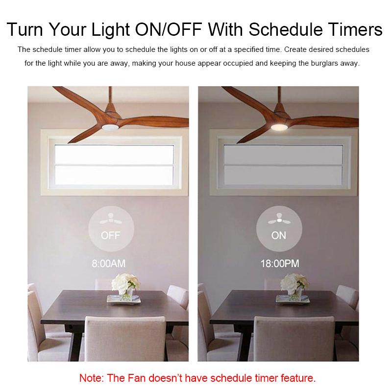 QIACHP Wifi Ceiling Fan Smart Remote Control Switch Timer Fan Speed Dimmer Controller Works With Alexa Google Home AC 110V 220V in Remote Controls from Consumer Electronics