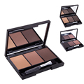 Professional 3 Color Eyebrow Powder/Shadow Palette Eyebrow Enhancer With Brush mirror  beauty eyes Make Up Set A2
