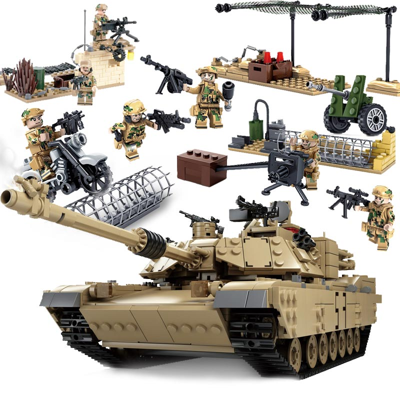 Kazi Military Special Forces Wolf Warrior 2 Army Weapons Guns Building Blocks Set Bricks Toys For Children Compatible With Lepin