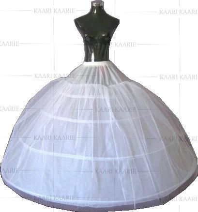 Rockabilly Yarn Dyed Wedding Dress 2017 Free Shipping White 4 Hoop Netting Bridal Accessories Crinoline Underskirt Petticoat