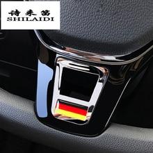 Автомобильный Стайлинг, чехлы на руль, наклейки, аксессуары для Volkswagen GOLF 7 GTi MK7 POLO Passat B7 B8 MK6 Jetta