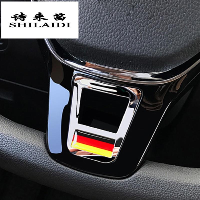 Автомобильный Стайлинг чехлы на руль наклейки аксессуары для Volkswagen GOLF 7 GTi MK7 POLO 2014 2015 Passat B7 2015 B8 MK6 Jetta