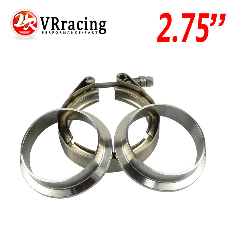 VR RACING - 2.75 V Band clamp flange Kit (Stainless Steel 304 Clamp+SUS304 Flange) For turbo exhaust downpipe VR-VCN275+VFN275