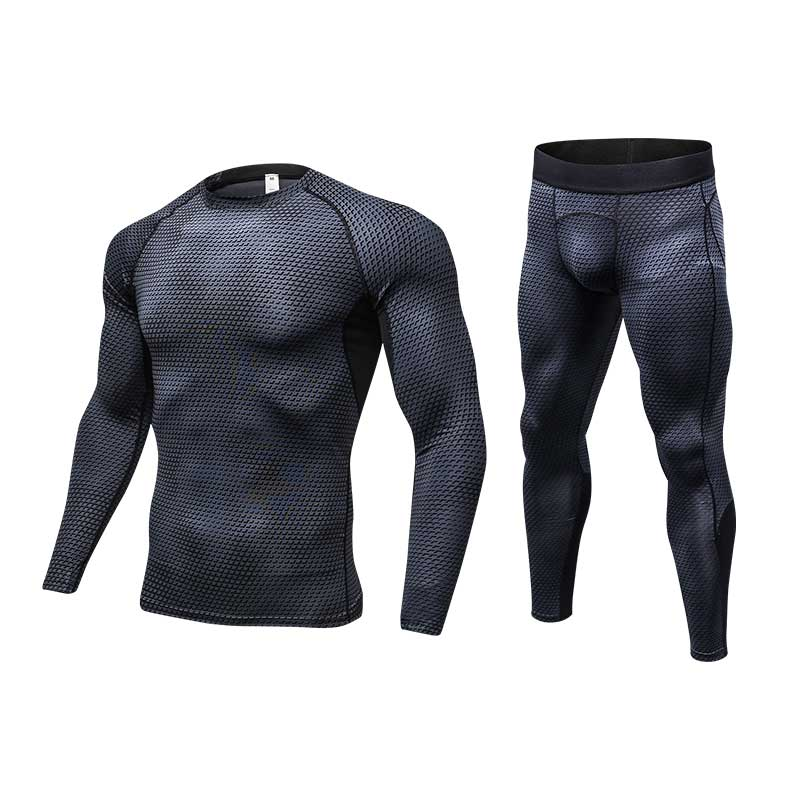 Men Pro Compression Long Johns Fitness Winter Quick Dry Gymming Male Autumn Sporting Sets Runs Workout