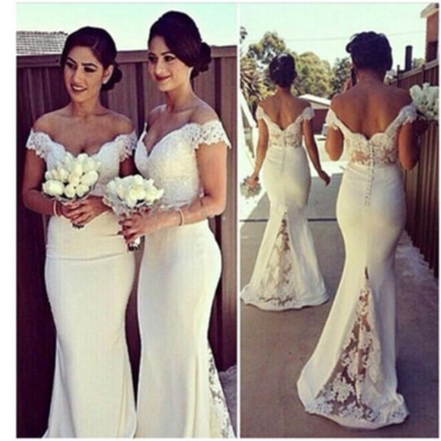 Sexy Sweetheart Lace Cap Sleeves Sexy Bridesmaid Dresses 2017 See Through  Custom Made Mermaid Vestido De Festa De Casamento c17 eea3b6c92119