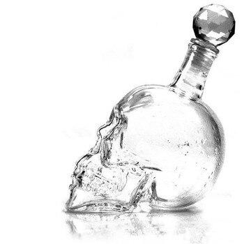 1000ML Creative Crystal Skull Wine Bottle Vodka Glass Skull Wine Glass Bottle Bar KTV Christmas Holiday Supplies  1