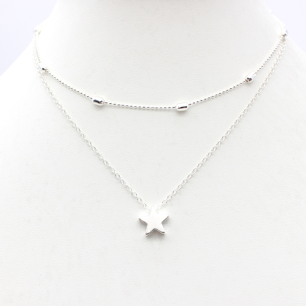 2019 Simple Love Heart Choker Necklace For Women Multi Layer Beads Chocker collar ras du cou collier femme Statement jewelry 2