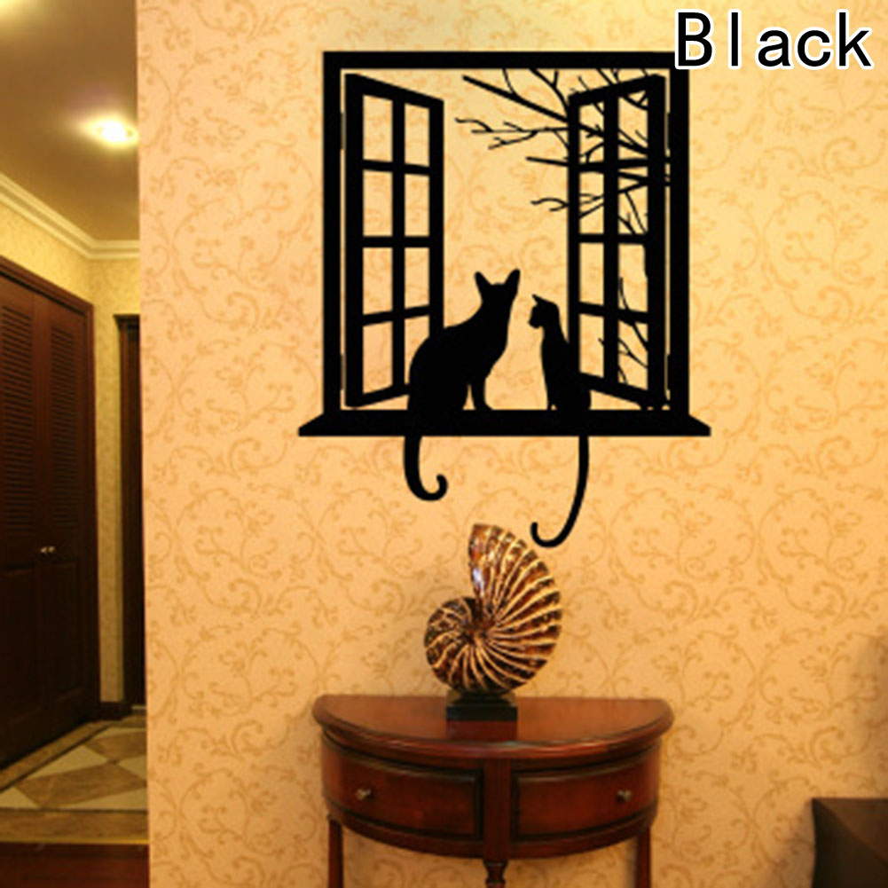 Cats On The Window Decorative Wall Sticker – House of JECA