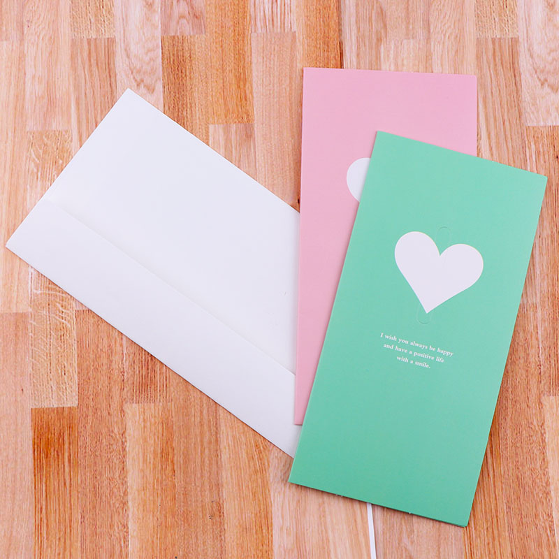 4pc/lot Colored Heart Paper Envelope With Invitation Card For Wedding/Wedding Birthday Greeting Card Event & Party Supplies