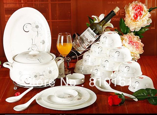 bone china 56PCS! ceramic porcelain tablewaredinnerware setpottery bowls plates & bone china 56PCS! ceramic porcelain tablewaredinnerware setpottery ...