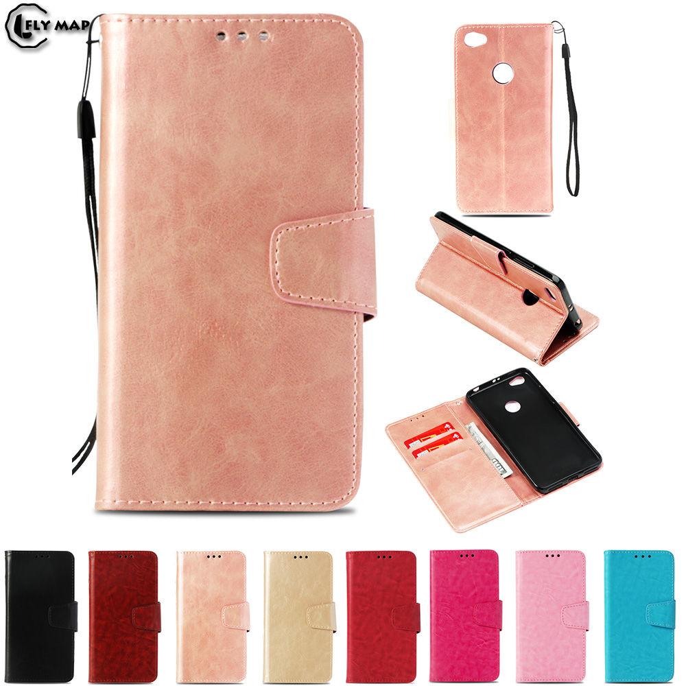 huge discount 36b73 20da9 US $4.46 5% OFF|Vintage Flip Case for Xiaomi Redmi Note A5 5A Prime Wallet  Card Slot Phone Leather Cover for Xiao Red mi Note5A Redmi Y1 Y 1-in Flip  ...
