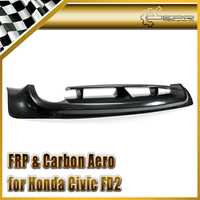 Глянцевая отделка Mugen стиль часть карбоновое волокно задний диффузор FRP стекловолокно MU бампер для губ разветвитель комплект для Honda Civic 06 11