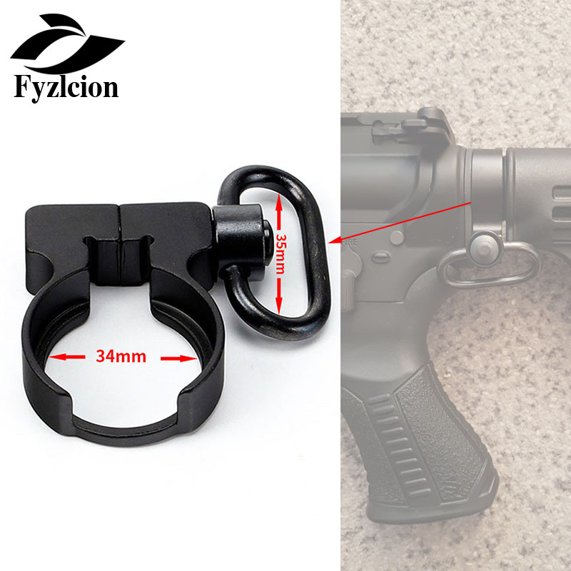 Tactical .223/5.56 Carbines AR15 M4 Rifle QD Quick Detach Black End Plate Sling Swivel Adapter Mount For Hunting