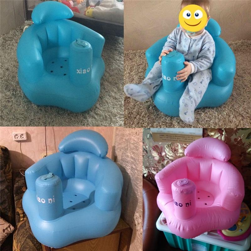 Oprecht Opblaasbare Badkamer Sofa Baby Kid Kinderen Stoel Seat Diner Stoel Leren Draagbare Multifunctionele Bad Kruk Voor Baby 's Up-To-Date Styling