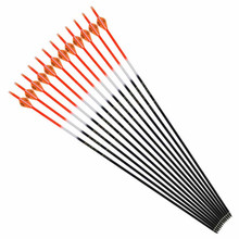 6/12/24pcs OD7.6 32-inch hybrid carbon arrow replaceable/composite recurve bow hunting shooting practice archery