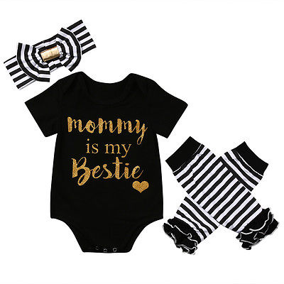 3 Stks/set Pasgeboren Baby Meisjes Kleding Sets Baby Meisjes Kerst Nieuwe Kleding Romper + Been Warmer + Hoofdband 3 Stks Outfit