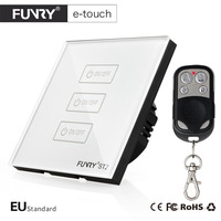 FUNRY ST2 EU 3R Tempered Glass Panel Smart Remote Control Sensor Switch Waterproof Shiny Panel Wall