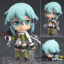 Anime Sword Art Online II Gun Gale Online Juguetes GGO 452 Asada Shino Sinon PVC Action Figure Collectible Dowin Toy figma стоимость