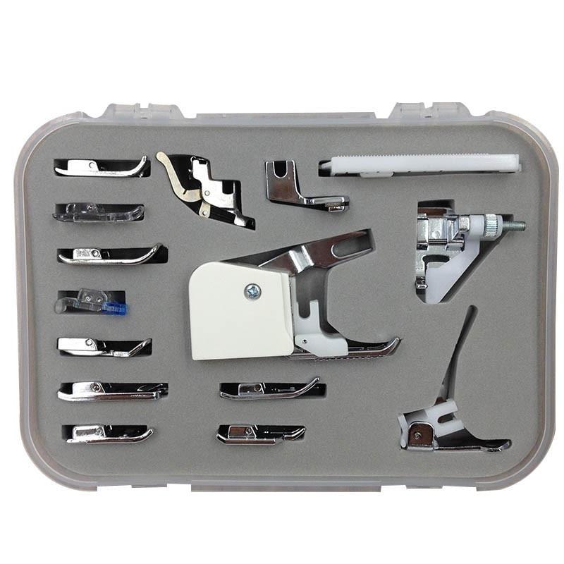 Home Domestic 15 unids/set herramientas de costura multifunción máquina de coser herramientas pie pies Presser Kit Set para Brother Janome Singer