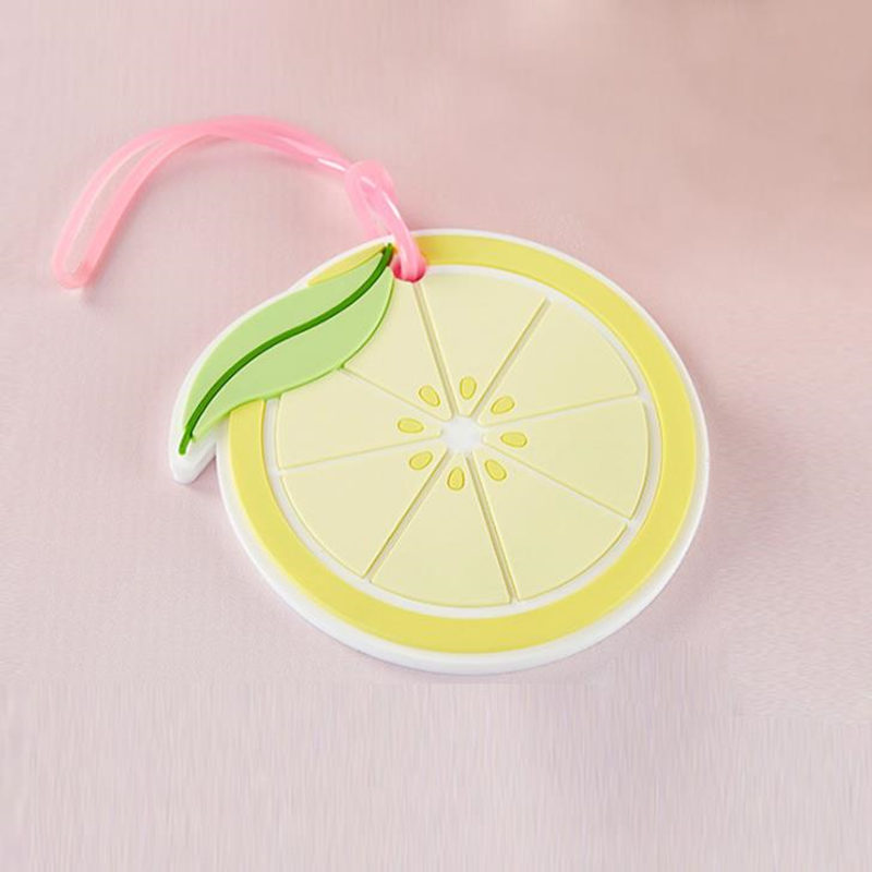 Wedding favors lemon slice luggage tag Creative wedding return gifts Travel baggage tags favor Silicone luggage accessories