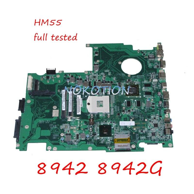 NOKOTION MB.PNQ06.001 DAZY9BMB8E0 REV E MBPNQ06001 Laptop Motherboard For Acer Aspire 8942 8942G HM55 DDR3 HD5850 Main Board
