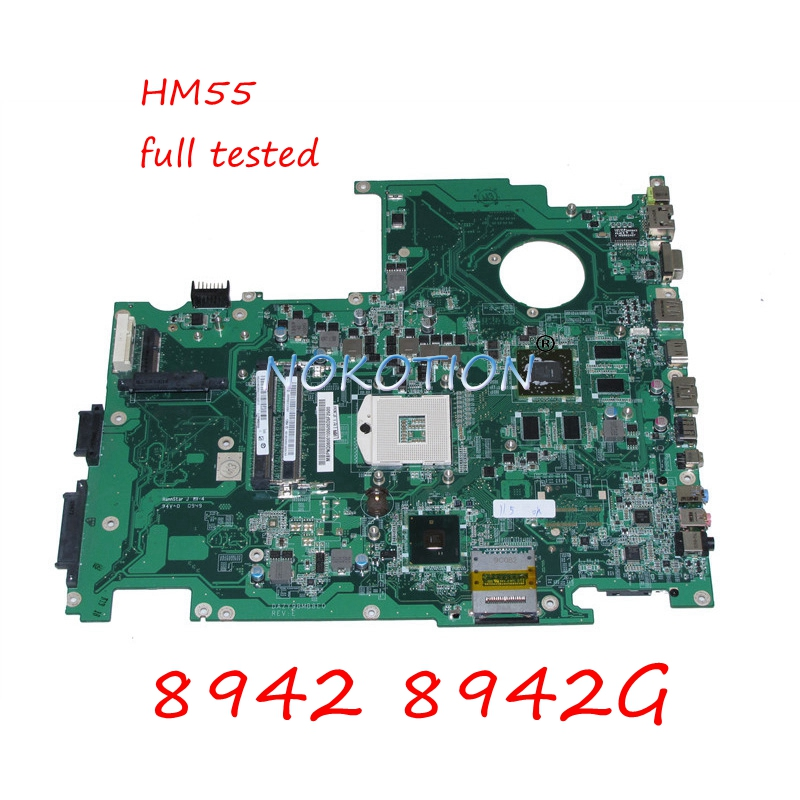 NOKOTION MB.PNQ06.001 DAZY9BMB8E0 REV E MBPNQ06001 Laptop motherboard For acer aspire 8942 8942G HM55 DDR3 HD5850 Main board image