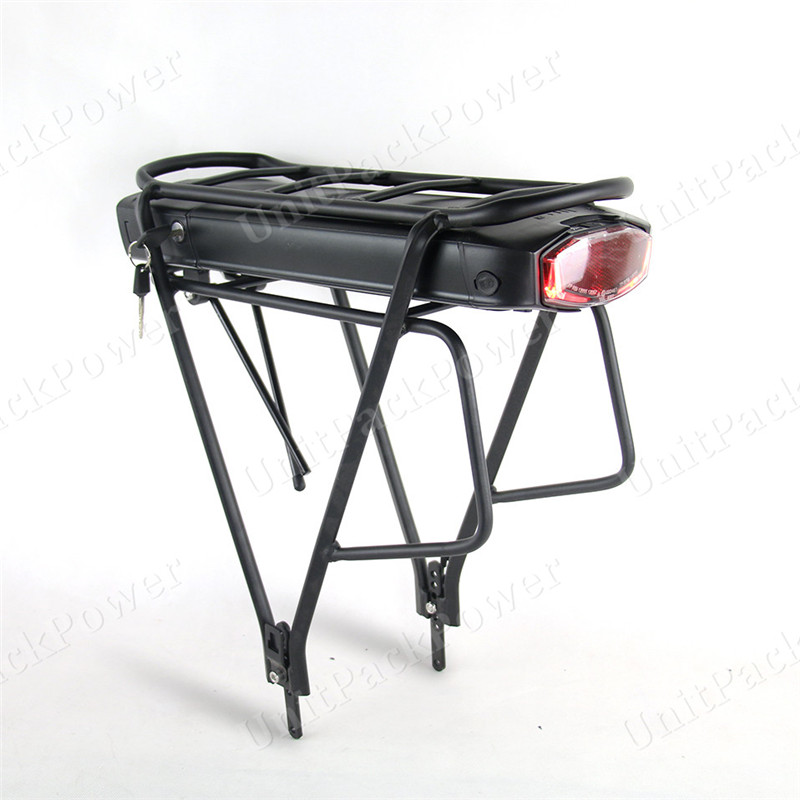 EU No Tax Rear Rack Style 36V 14.5Ah 15Ah 17.5Ah E-Bike Battery Samsung 36 Volt 250W 350W 500W eBike Li-ion Battery+Luggage Rack free customs tax 36v 500w ebike lithium battery 36v 15ah electric bike down tube bottle battery with charger for samsung cell