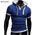 Brands Hooded Polo Homme Men 2016 Shirt Casual Mens Camisa Blue Polos Hombre Solid Manga Corta Marca XXXXL